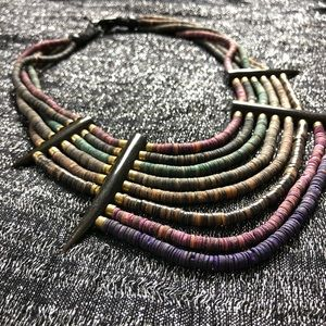 VINTAGE🎄1990s colorful beaded southwest necklace